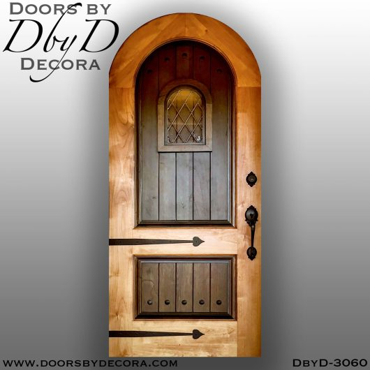 dbyd3060e - old world two tone wood door - Doors by Decora