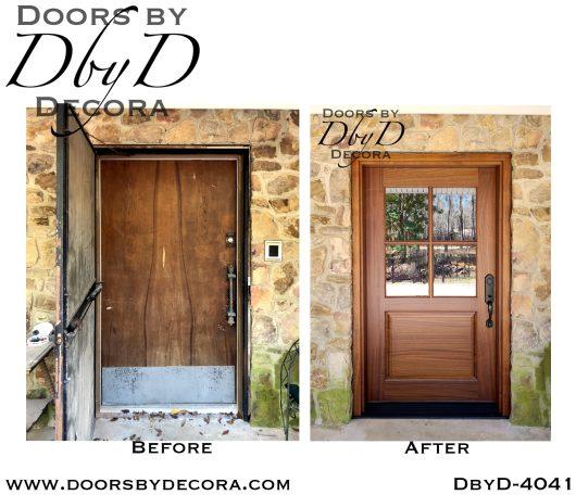 dbyd4041b - craftsman 4-lite tdl door - Doors by Decora