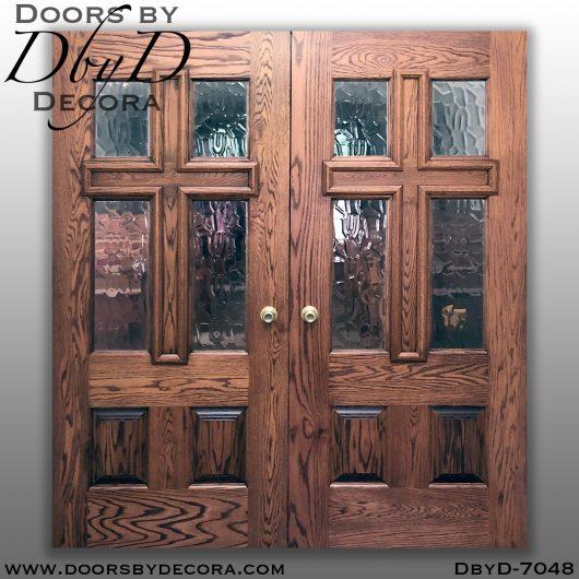 dbyd7048a - church cross double doors - Doors by Decora