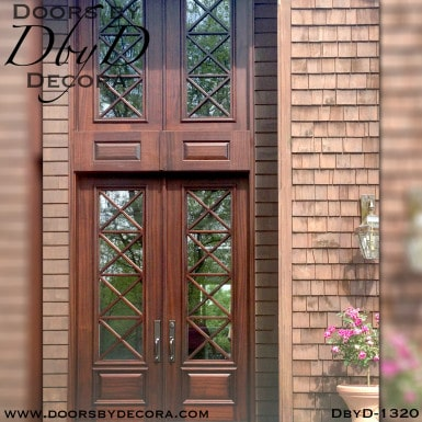 divided lite mahogany door