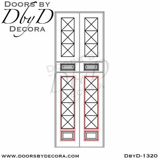 divided lite1320b - divided lite mahogany door - Doors by Decora