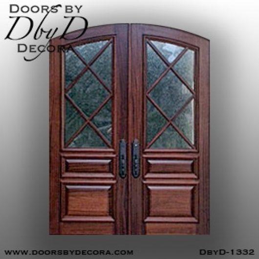 divided lite1332b - divided lite tdl segment top doors - Doors by Decora