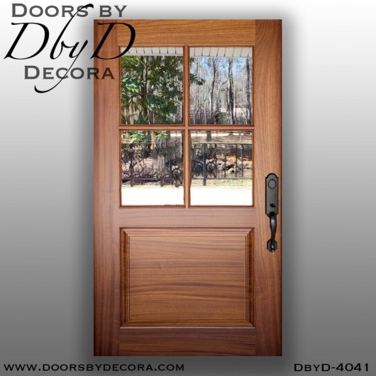 divided lite4041c - divided lite 4-lite tdl door - Doors by Decora