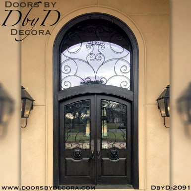 iron grill lion head entry doors