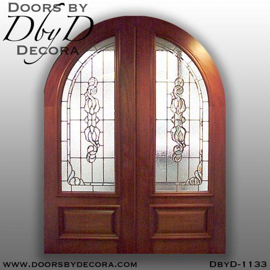 leaded glass radius front doors