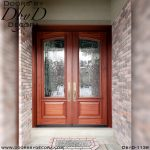 leaded glass double front doors