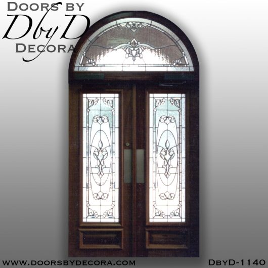 leaded glass exterior double doors