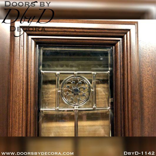 leaded glass1142b - leaded glass door with custom glass - Doors by Decora