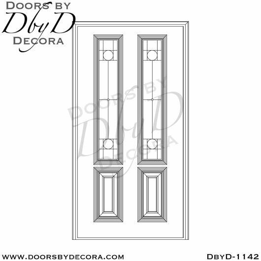 leaded glass door with custom glass