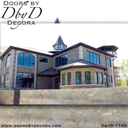 leaded glass1143a - leaded glass oak door - Doors by Decora