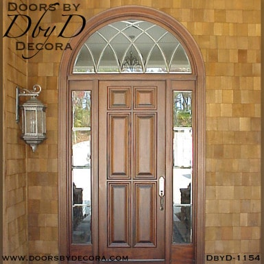 leaded glass 6-panel exterior entry