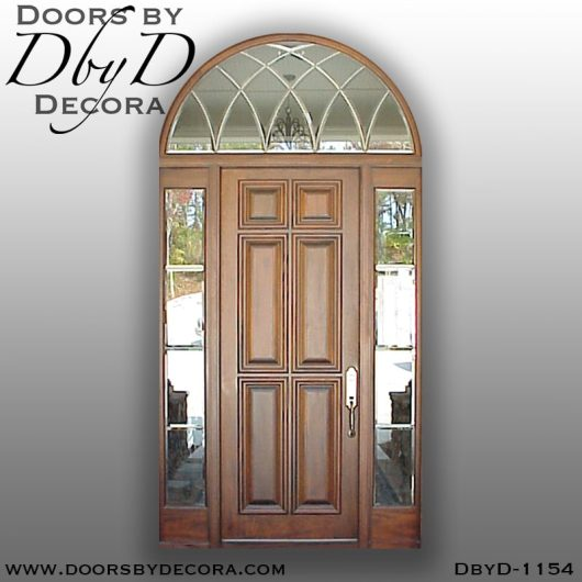 leaded glass1154b - leaded glass 6-panel exterior entry - Doors by Decora