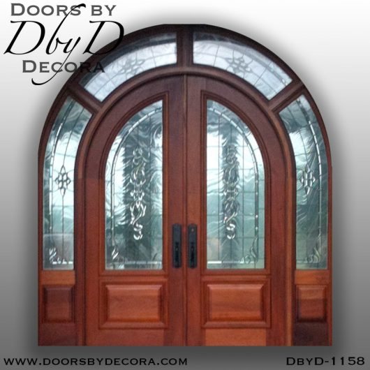 leaded glass1158a - leaded glass large exterior entry - Doors by Decora