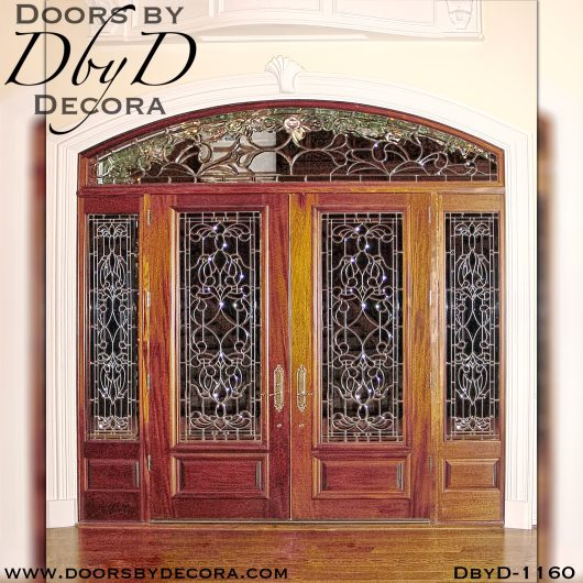 leaded glass1160b - leaded glass grand entry - Doors by Decora