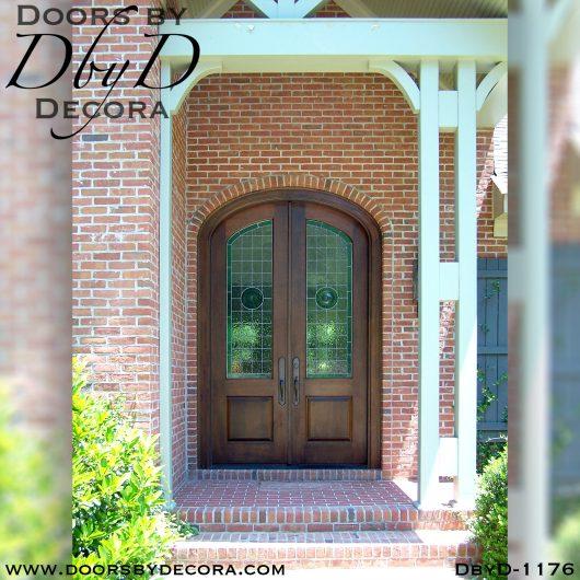 leaded glass1176b - leaded glass elliptical doors - Doors by Decora