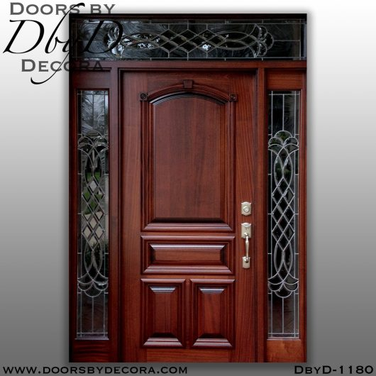 leaded glass1180a - leaded glass mahogany front door - Doors by Decora