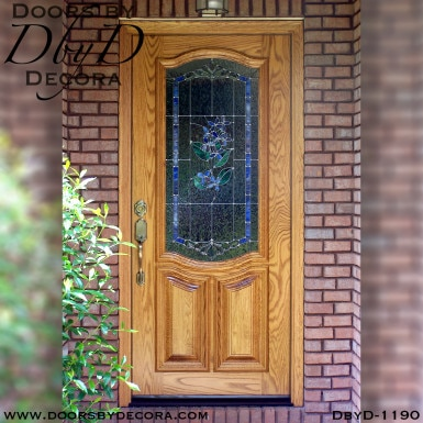 leaded glass lilac door