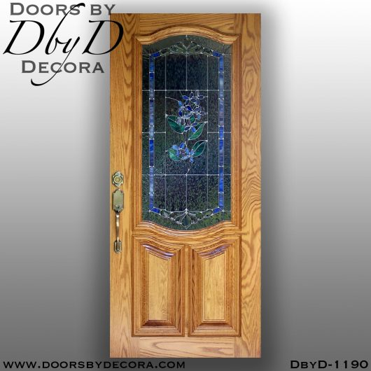 leaded glass1190b - leaded glass lilac door - Doors by Decora