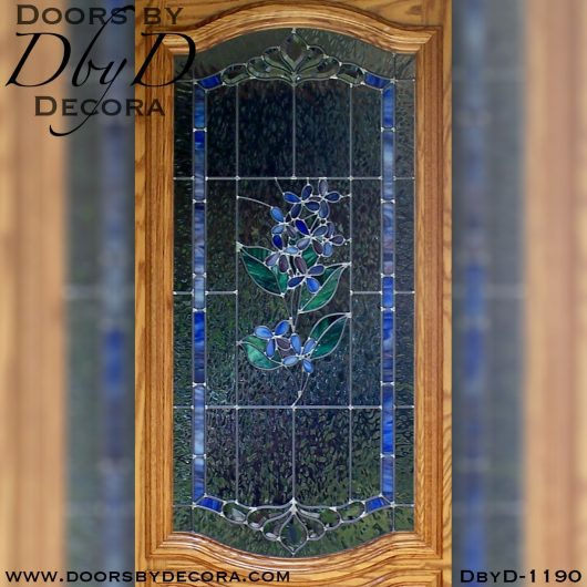 leaded glass1190c - leaded glass lilac door - Doors by Decora