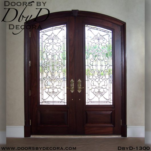 leaded glass1300a - leaded glass door entry - Doors by Decora