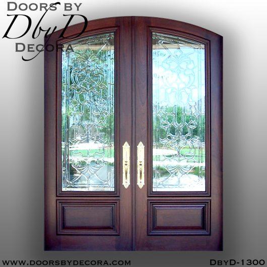 leaded glass door entry