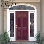 leaded glass solid wood entry