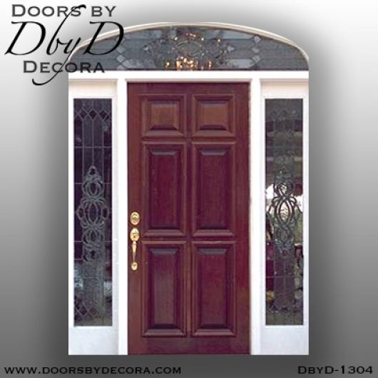 leaded glass1304b - leaded glass solid wood entry - Doors by Decora