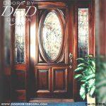 leaded glass oval glass door