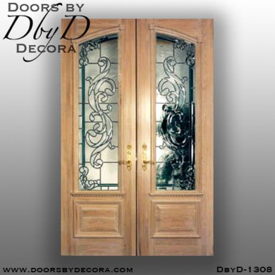 leaded glass front entry door