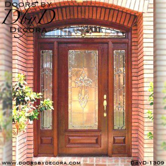 leaded glass custom front door