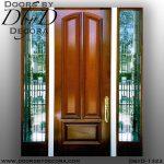 leaded glass door with sidelites