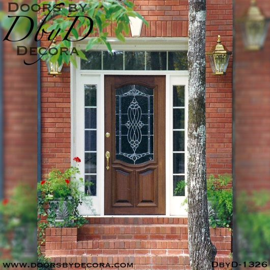 leaded glass traditional front door