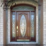 leaded glass traditional mahogany entry