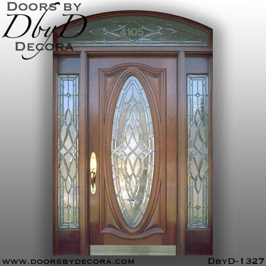 leaded glass traditional mahogany entry