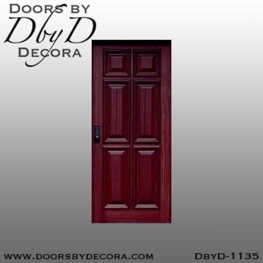 solid door wood six panel door