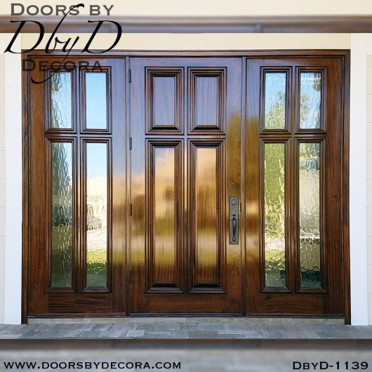 solid door four panel with sidelites