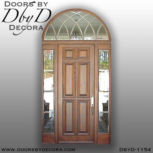 solid door1154b - solid door 6-panel exterior entry - Doors by Decora