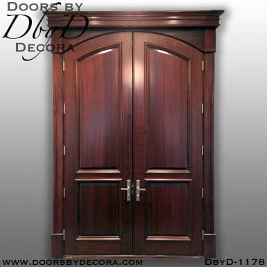 solid door solid wood entry