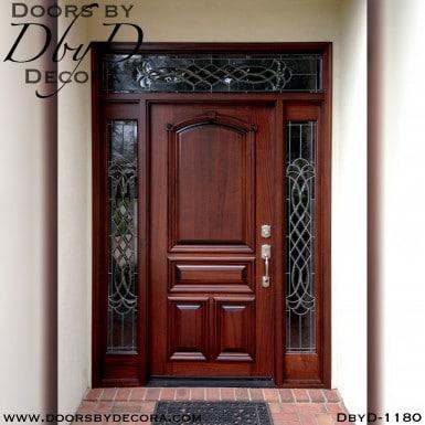 solid door mahogany front door