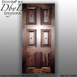 solid door six panel wooden door