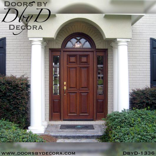 solid door1336a - solid door leaded glass and wood entry - Doors by Decora