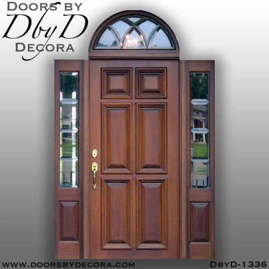 solid door1336b - solid door leaded glass and wood entry - Doors by Decora