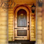 solid door two-tone wood door