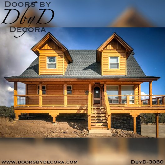 solid door3060a - solid door two-tone wood door - Doors by Decora