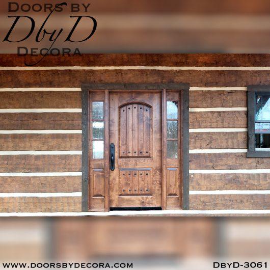 old world door and sidelites