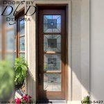 contemporary single entry door