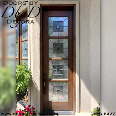 contemporary single entry door