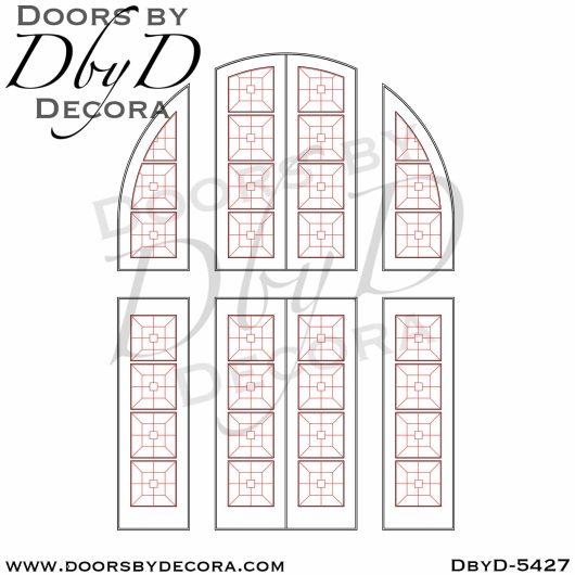 dbyd5427d - contemporary single entry door - Doors by Decora