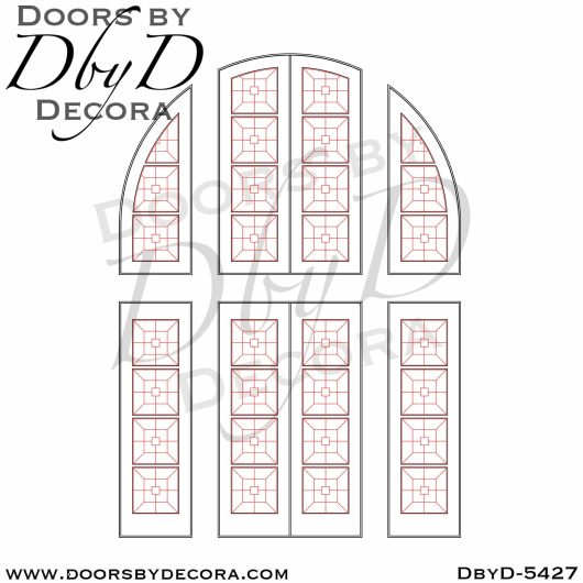 divided lite5427d - divided lite single entry door - Doors by Decora