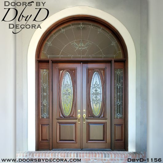 leaded glass large entry doors